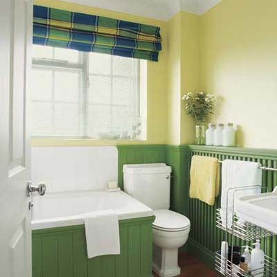 32 ways to deck the walls for the holidays paint ideas for Bright green bathroom ideas