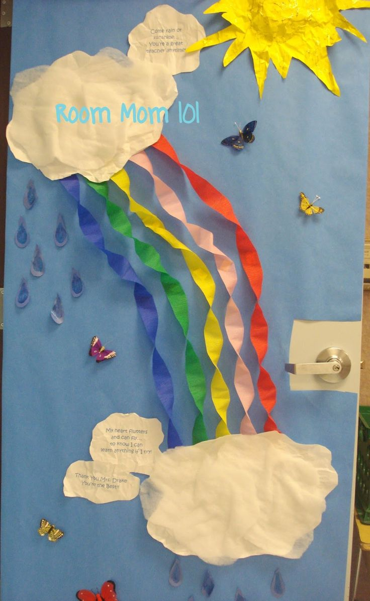 Spring decorations for classroom - Welcome Back Decorations Ideas Since The Words On The Door Are A Little Hard To