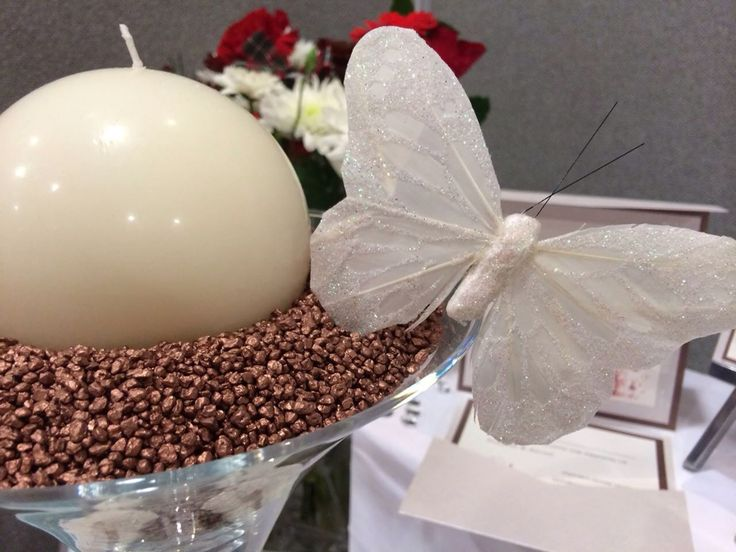 Filled Martini glass with Butterfly by Made Marvellous