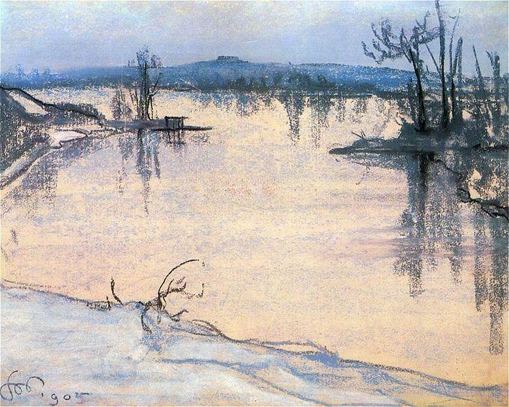 Wyspiański, Wisla pod Krakowem, 1905 - pastel