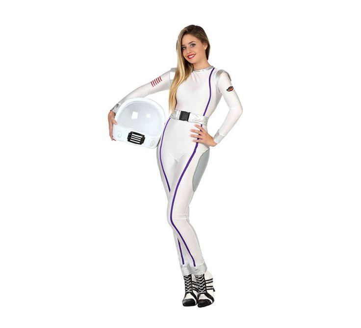 Disfraz de Astronauta para Mujer. Imagínate con este disfraz tan sexy en mitad de la fiesta de Carnaval. Es perfecto para grupo de amigas