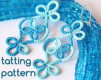 PDF Tatting Pattern Transforming Earrings by JTatter on Etsy