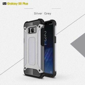 Carcasa Samsung Galaxy S8 Plus, Toto Accesories, Culoare Gri, Plastic Dur+Silicon