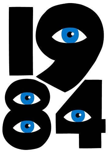 ...: Eyes Blue, Books Covers, Nineteen Eye Ti, Cool Posters, Design Ideas, Book Covers, Time Books, Books 1984, Graphics Illustration Txt Typ