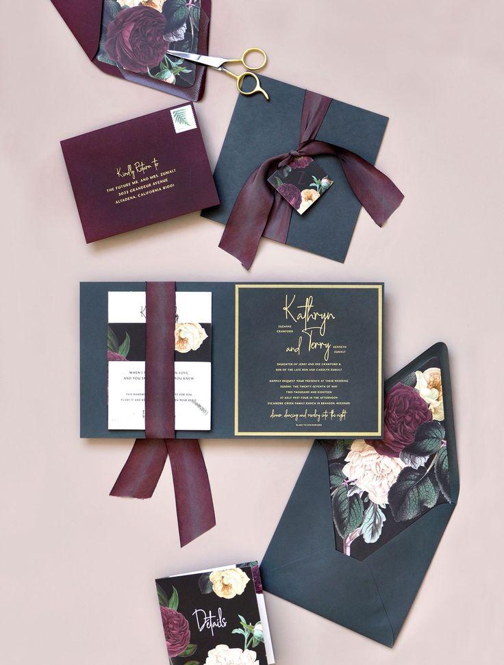 Design und Druck: Smitten on Paper   Seed Paper und Hand Dyed Silk Ribbon: Von …   – Wedding invites