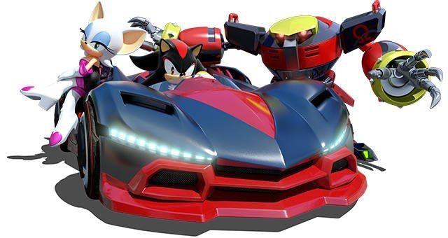 Team Dark In Team Sonic Racing Sonic Sonic And Shadow Shadow The Hedgehog