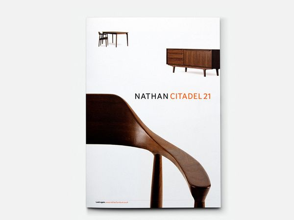 Nathan furniture brochure cover in Poster