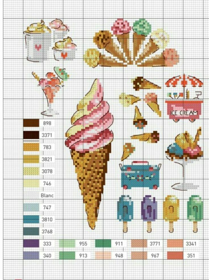 #crossstitch #kanaviçe #rengarenk #dondurma #mutfak #colorful #icecream #kitchen