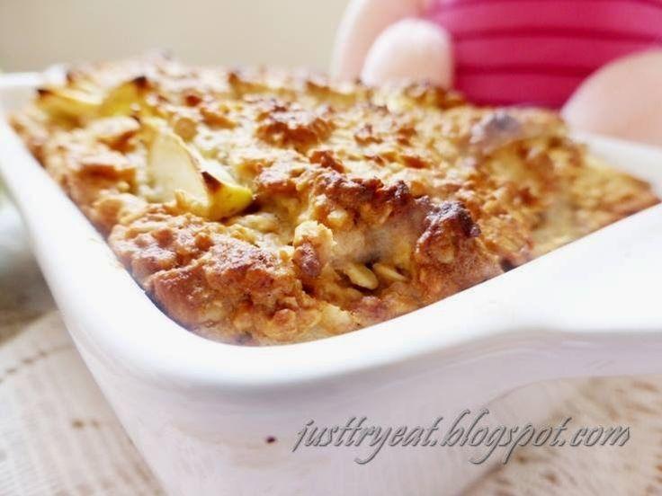 Just Try Eat: wegańskie szybkie ciasto owsiane z jabłkami