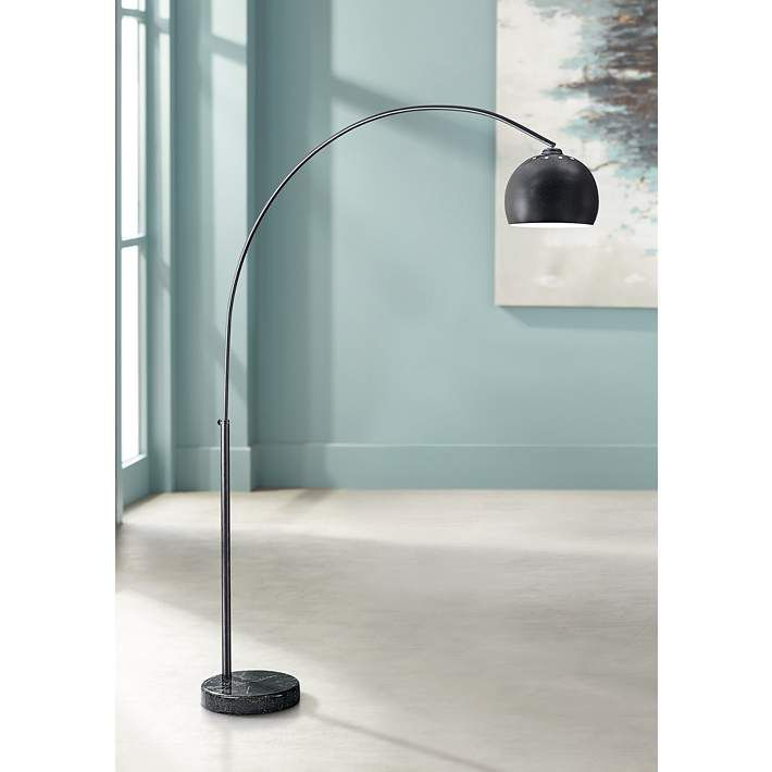 George Kovacs Dorian Bronze Arc Floor Lamp