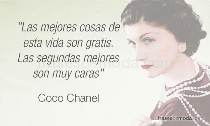 Frase de moda de la diseñadora Coco Chanel
