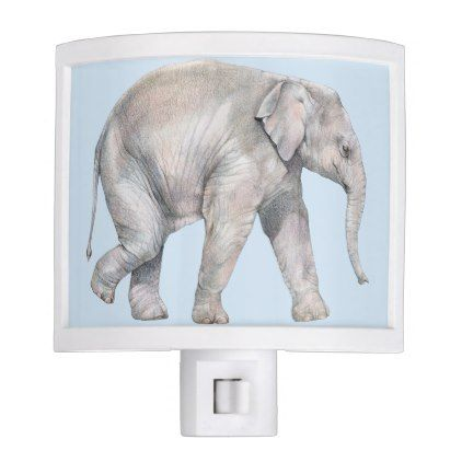 Asian Elephant Calf Night Light - light gifts template style unique special diy