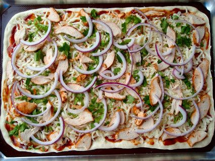 T&T BBQ Chicken Pizza - the kiddos favorite