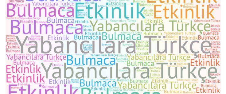 Yabancılara Türkçe öğretimi bulmaca etkinlikleri pdf