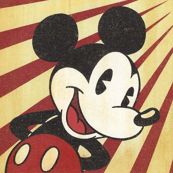 Mickey Mouse vintage art by Trevor Carlton