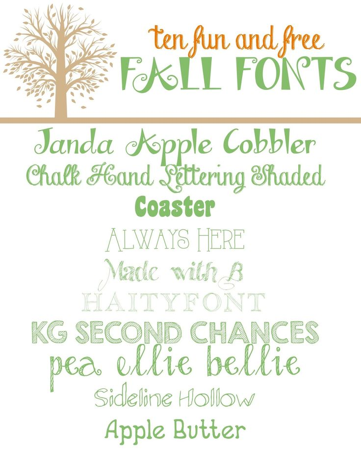 With the {almost} start of Fall just a day away, I thought now would be the perfect time to share with you 10 free Fall-like fonts. I love downloading new fonts each season. These 10 are particularly perfect for Thanksgiving. Come see for yourself!