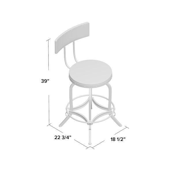 Oria Adjustable Height Swivel Bar Stool In 2020 Swivel Bar Stools Bar Stools Stool