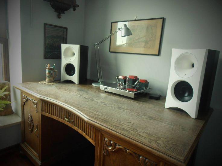 Speakers Zingali Zero Bookshelf & Vacuum tube amplifier Egg-Shell Classic 9WLT