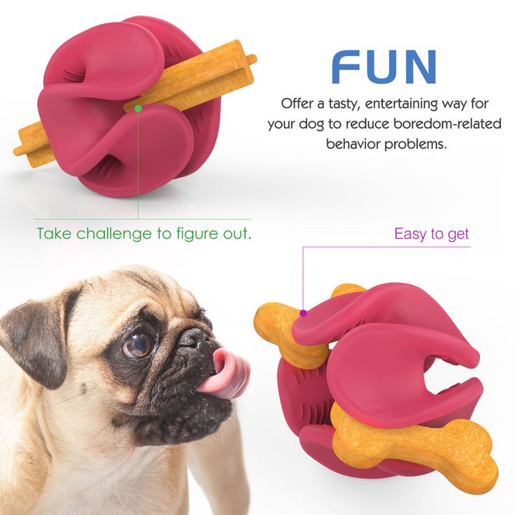 Pawaboo Dog Treat Holder Ball Durable Flexible Rubber Treat Dispenser Chew Toy  #Pawaboo