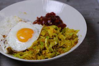 Indiase spitskool met specerijen en kokos #vegetarisch
