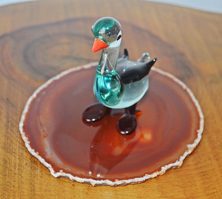 Excited to share the latest addition to my #etsy shop: Art Glass Bird, Glass Goose On Orange Agate, Miniature Blown Glass Figurine #vintage #collectibles #birthday #christmas #artglassgoose #artglassbird #glassminiature #miniaturebird #birdfigurine http://etsy.me/2AhWL1f