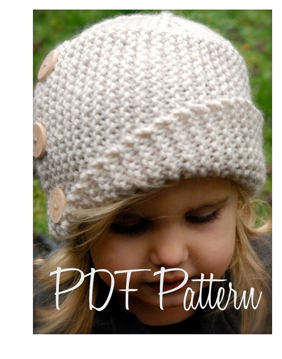 Free Knitting Pattern Baby Cloche Hat : Knitting PATTERN-The Piper Cloche (Toddler, Child, Adult sizes)