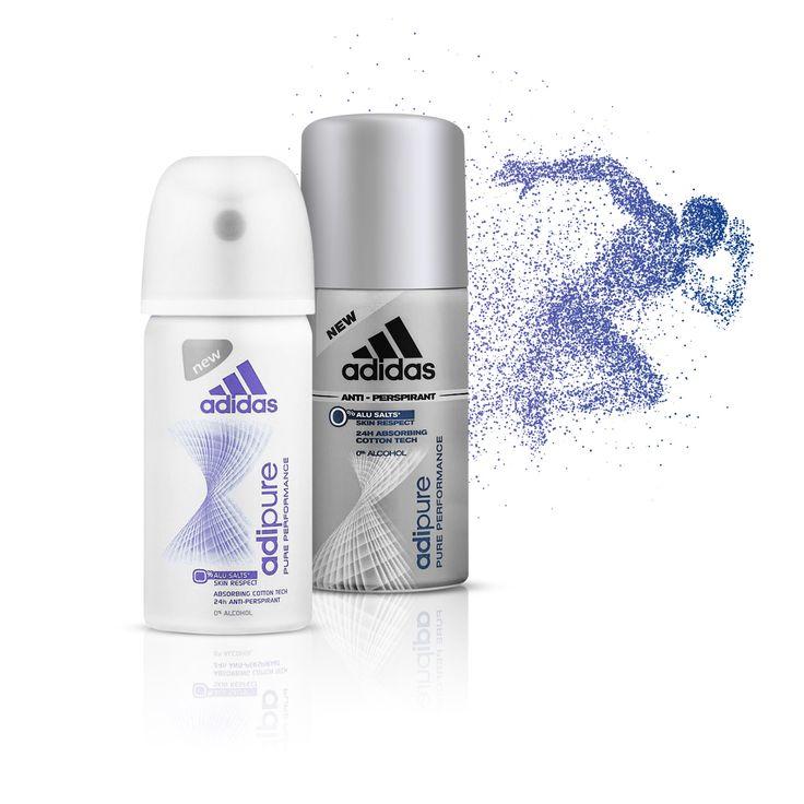 Două antiperspirante revoluționare! Adidas Adipure - primele antiperspirante cu 0% săruri de aluminiu!