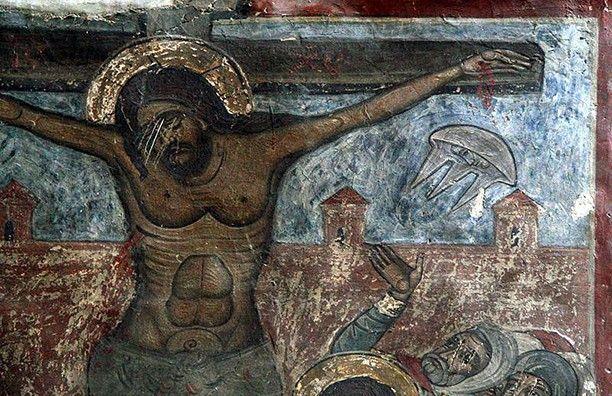 Изображение НЛО на средневековых картинах - «Политика»
