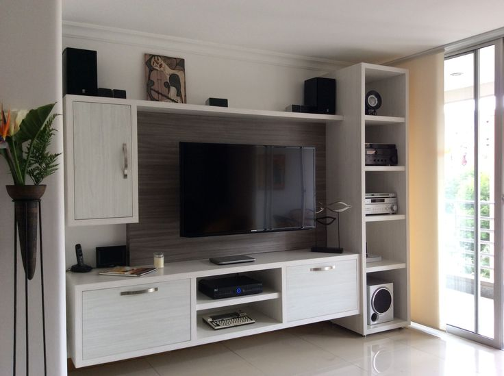 49 centro de entretenimiento en gris humo sweet home - Sweet home muebles ...