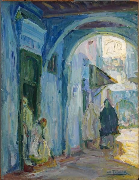 Henry Ossawa Tanner, Street in Tangier, ca. 1910, oil, Smithsonian American Art Museum