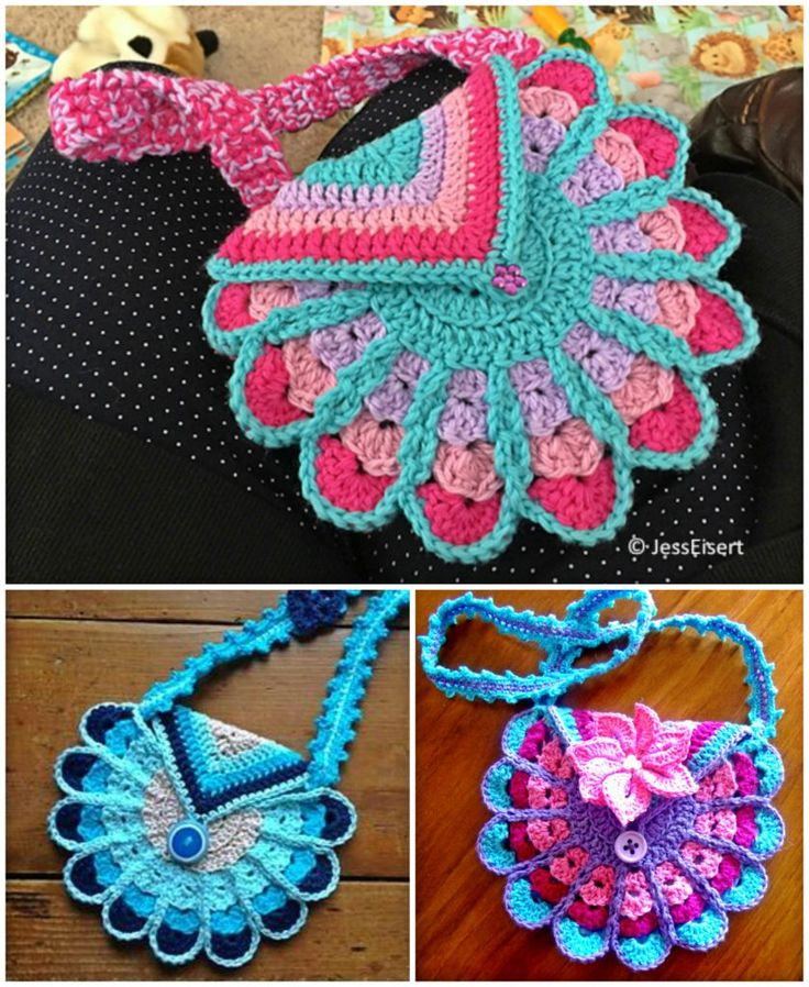 Peacock Bag Crochet – Free Pattern – NatureRelated