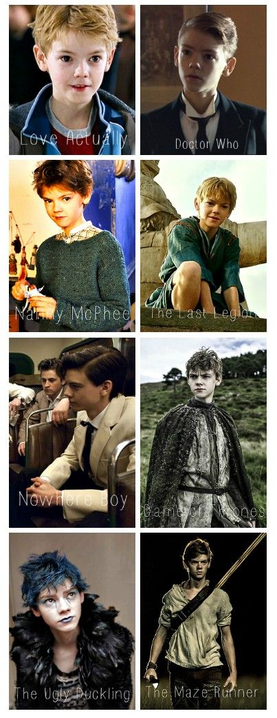 Thomas Brodie-Sangster through the years. I guess he's aged a little. Maybe.:] (Also, I'm curious about the blue hair in the second-to-last? Not complaining, though?)