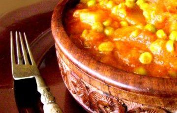 Aloo Matar ovvero curry di patate e piselli