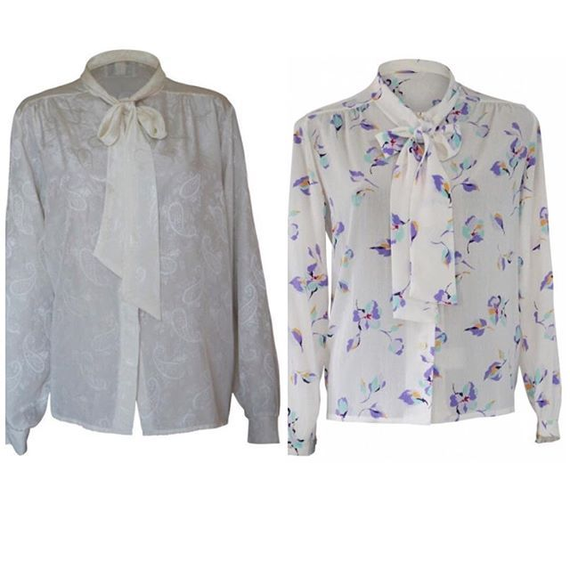 Vintage Style: Pussy bow blouses for days! Feminine, fun and fabulous. Shop now, link in bio. #readyforanightout #pussybowblouse #pussybow #so70s #corporate