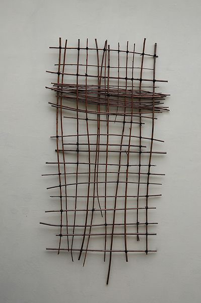 catherine willis - partition : willow branches . black cotton