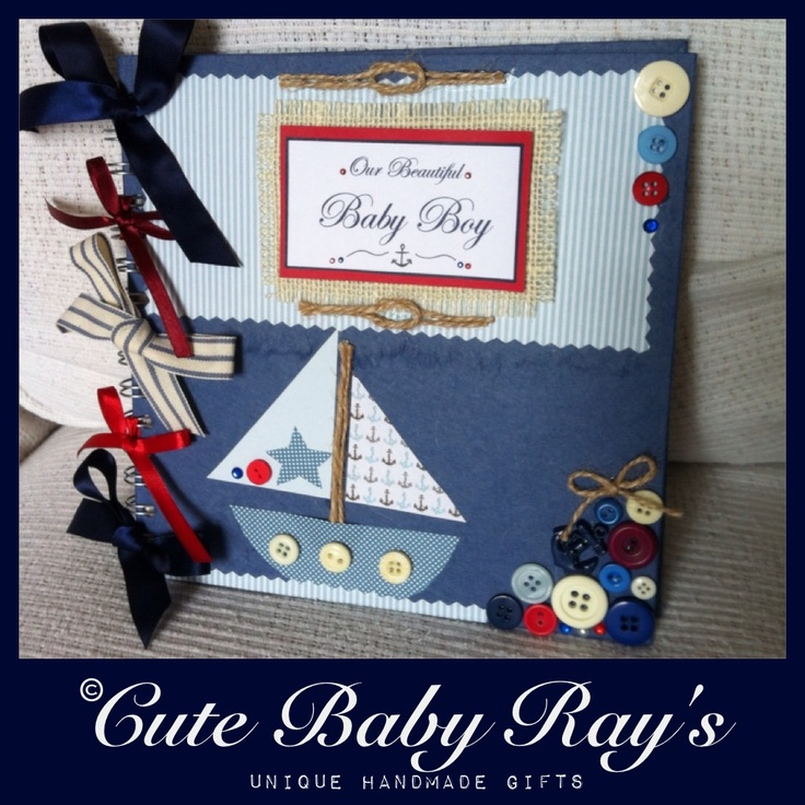 32 best cute baby rays unique handmade gifts images on handmade personalised nautical baby book negle Choice Image