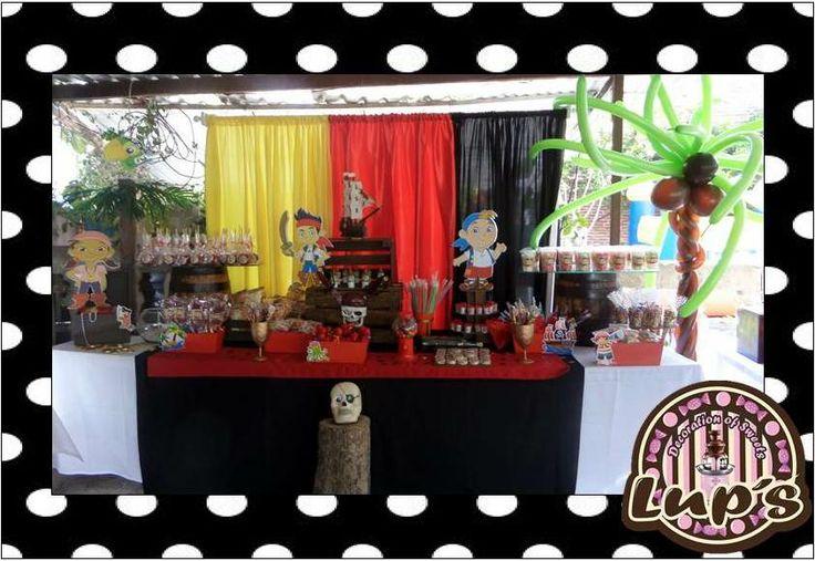 mesa de dulces de jake el pirata !!!
