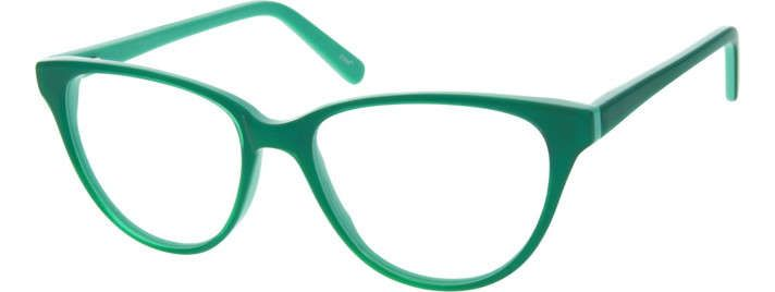 Green Acetate Full-Rim Frame with Spring Hinges 183024