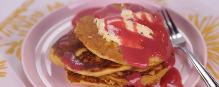 Cornmeal Griddle Cakes. No brunch is complete without these quick and easy cornmeal griddle cakes!