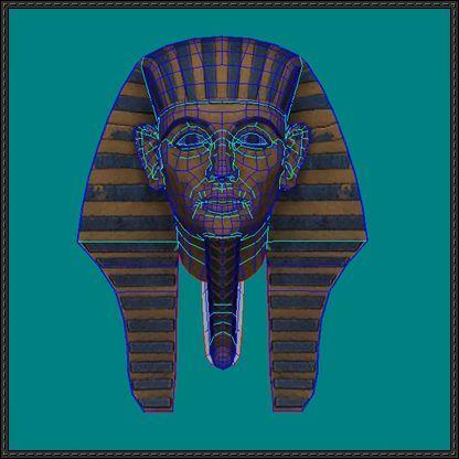 king tut mask template - ancient egypt king tut tutankhamun helmet papercraft free