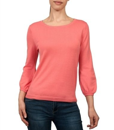 Wool Overs Womens Blouse Sleeved Jumper Coral