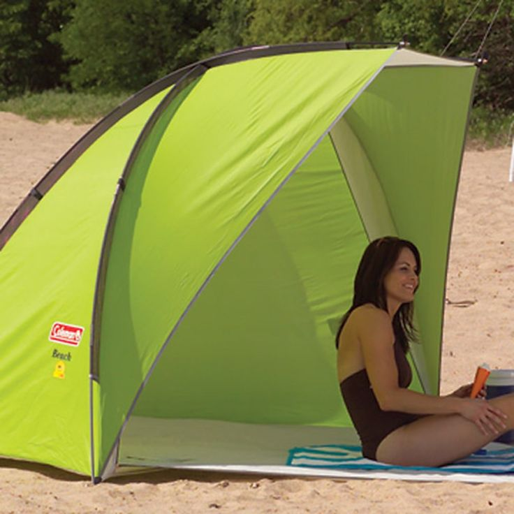 Coleman - Road Trip Beach Shade--- Fully prepared and protected while on the road. If you need a place to change, this tent-like shade has a zip-shut door that offers portable privacy. Additional features include front awning for extra shade, convenient interior pockets, and more.