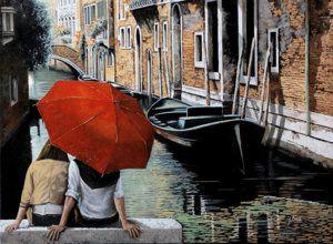 Painting - Uno Sguardo Al Canale by Guido Borelli