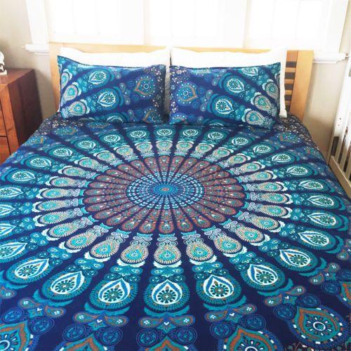 Indian-Mandala-Hippie-Queen-Tapestry-Bohemian-Decorative-Bedspread-Bedding-Art
