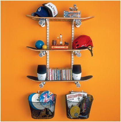 convertir patinetes en estanterias decorativas