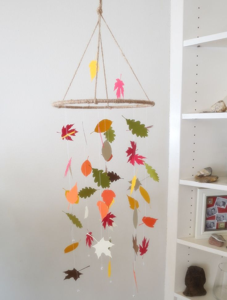 Round Leaf Mobile - Fall decor,nature mobile,home decor,baby mobile,nursery mobile,kids, hanging mobile by EnchantedPendulosity on Etsy https://www.etsy.com/listing/458407154/round-leaf-mobile-fall-decornature