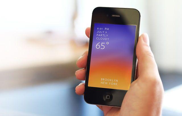 Sophisticated en visueel zeer aantrekkelijk: De SOLAR iPhone weather app