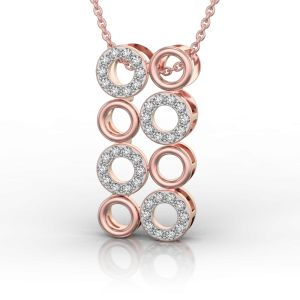 Hoopla Party with Rock and Metal in Pink Gold Pendant