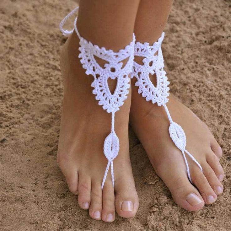 Sexy Ruční lanové šperku háčkování Barefoot sandály Nevěsty boty Beach Pool jóga plážové oblečení šperku Hippy Boho Foot šperky 1pair-in Ponožky z šperky a příslušenství na Aliexpress.com   Alibaba Group