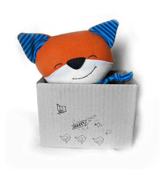 Plush Fox Toy, Toddler gift, StuffedFox, Stuffed animal, Nursery decor, Plush toy, Soft Handmade Fox Rag Doll, Baby Shower Gift, Woodland
